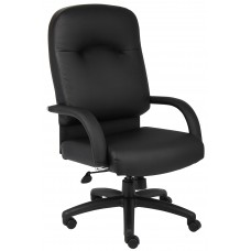 High Back Caressoft Chair In Black