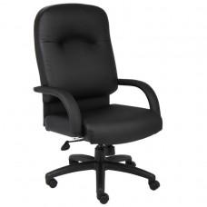 High Back Caressoft Chair In Black W/ Knee Tilt