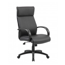 High Back Executive Chair / Black Finish / Black Upholstery