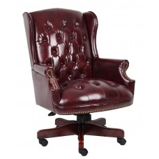 Wingback Traditional Chair In Burgundy