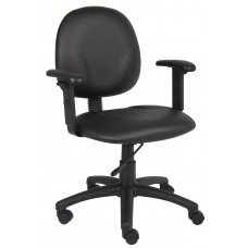 Diamond Task Chair In Black Caressoft W/ Adjustable Arms