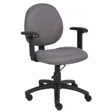 Diamond Task Chair In Grey W/ Adjustable Arms