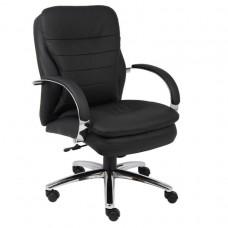 Mid Back CaressoftPlus Exec. Chair W/ Chrome Base & Knee Tilt