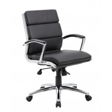 Executive CaressoftPlus™ Chair with Metal Chrome Finish - Mid Back