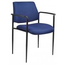 Square Back  Diamond Stacking Chair W/Arm In Blue