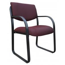Burgundy Fabric Guest Chair