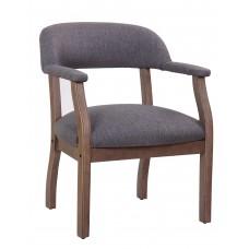 Modern Captain's Chair in Slate Grade Commercial Grade Linen