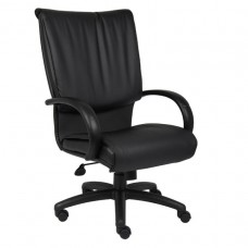 High Back Black LeatherPlus Executive Chair W/ Knee Tilt
