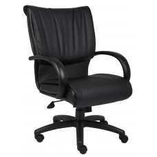 Mid Back Black LeatherPlus Executive Chair