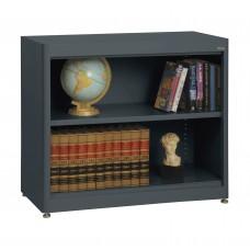 "Sandusky® Elite 36"" x 18"" x 30"" Radius Edge Steel Stationary Bookcase, Charcoal"