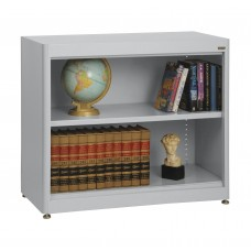 "Sandusky® Elite 36"" x 18"" x 30"" Radius Edge Steel Stationary Bookcase, Burgundy"
