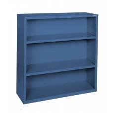 "Sandusky® Elite 42""H x 34 1/2""W x 13""D Steel Fully Adjustable Bookcase, Blue"