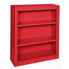"Sandusky® Elite 42""H x 46""W x 18""D Steel Fully Adjustable Bookcase, Red"