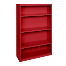 "Sandusky® Elite 52""H x 34""W x 12""D Steel Fully Adjustable Bookcase, Burgundy"