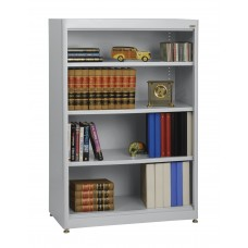 "Sandusky® Elite 36"" x 18"" x 52"" Steel Radius Edge Stationary Bookcase, Black"