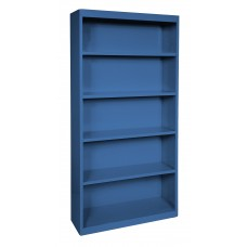 "Sandusky® Elite 72""H x 34""W x 12""D Steel Fully Adjustable Bookcase, Blue"