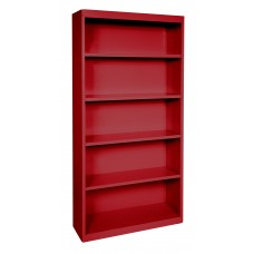 "Sandusky® Elite 72""H x 36""W x 18""D Steel Fully Adjustable Bookcase, Red"