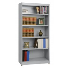 "Sandusky® Elite 36"" x 18"" x 72"" Steel Radius Edge Stationary Bookcase, Putty"