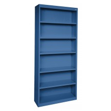 "Sandusky® Elite 82""H x 34""W x 12""D Steel Fully Adjustable Bookcase, Yellow"