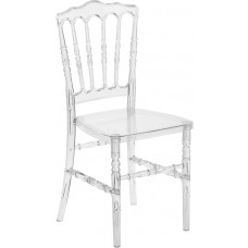 Flash Elegance Crystal Ice Napoleon Stacking Chair [BH-H002-CRYSTAL-GG]