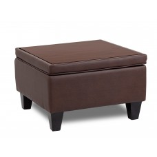 Bomber Brown Reception Sectional Ottoman