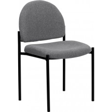 Comfort Gray Fabric Stackable Steel Side Reception Chair [BT-515-1-GY-GG]