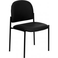 Comfort Black Vinyl Stackable Steel Side Reception Chair [BT-515-1-VINYL-GG]