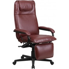 High Back Burgundy Leather Executive Reclining Swivel Chair with Arms [BT-70172-BG-GG]
