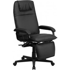 High Back Black Leather Executive Reclining Swivel Chair with Arms [BT-70172-BK-GG]