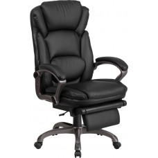 High Back Black Leather Executive Reclining Swivel Chair with Arms [BT-90279H-GG]