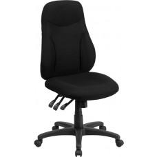 High Back Black Fabric Multifunction Ergonomic Swivel Task Chair [BT-90297H-GG]