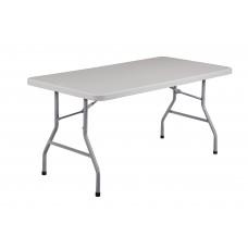 "Speckled Grey 30"" x 60"" Rectangular Folding Table"