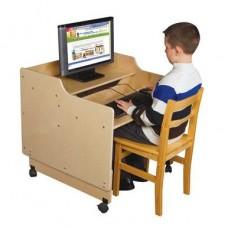 Contender™ Mobile Computer Desk - Assembled
