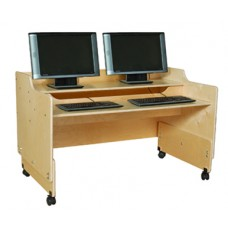 "Contender™ Mobile Computer Desk- 48""W - Fully Assembled"