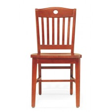 Americana II Armless Chair with cutout - All Wood - Painted