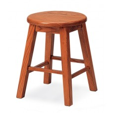 """Bison 18"""" Stool - All Wood"""