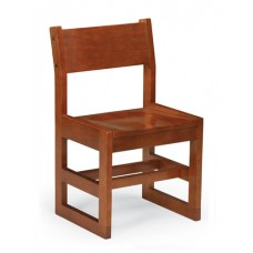 "Class Act 16""H Children's Chair, Sled Base - All Wood - Painted"