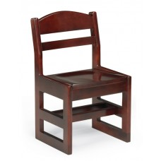 "Classmate 14""H Children's Chair, Sled Base - All Wood"
