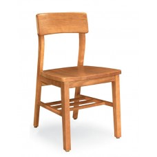 Collegian II Armless Chair Solid Back - All Wood - Painted