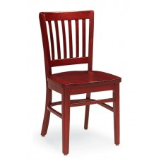 Melrose Vertical Slat Back Chair - All Wood - Painted