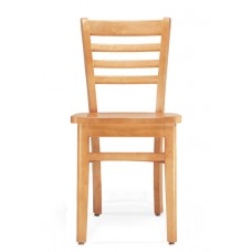 Murphy Armless Chair- All Wood - Painted