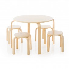 Nordic Table and Chairs Set - Natural