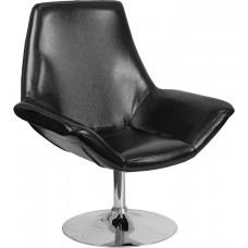 HERCULES Sabrina Series Black Leather Side Reception Chair [CH-102242-BK-GG]