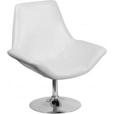 HERCULES Sabrina Series White Leather Side Reception Chair [CH-102242-WH-GG]