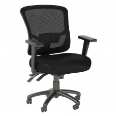 Bush Business Furniture Custom Comfort Mid Back Multifunction Mesh Executive Office Chair