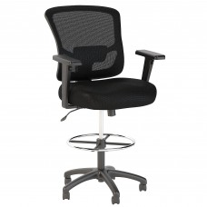 Bush Business Furniture Custom Comfort Mesh Back Drafting Chair with Chrome Foot Ring
