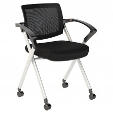 Bush Business Furniture Corporate Mesh Back Folding Office Chairs Set of 2