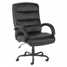 Bush Business Furniture Soft Sense Big and Tall High Back Leather Executive Office Chair