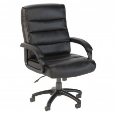 Bush Business Furniture Soft Sense Mid Back Leather Executive Office Chair