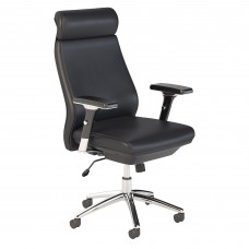 Bush Business Furniture Metropolis High Back Leather Executive Office Chair